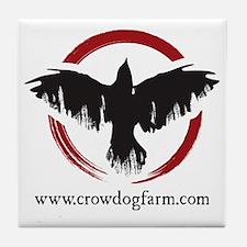 Crow Dog Farm Crow Tile Coaster