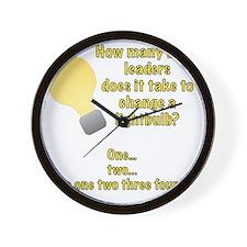 Band leader lightbulb joke Wall Clock