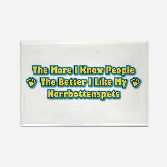Like Norrbottenspets Rectangle Magnet (100 pack)