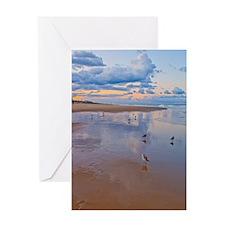 Ocean Birds at Sunrise Greeting Card