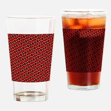 Red And Black Interlocking Pattern Drinking Glass