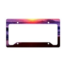 Beach Sunrise License Plate Holder