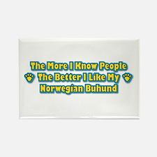 Like Buhund Rectangle Magnet (100 pack)