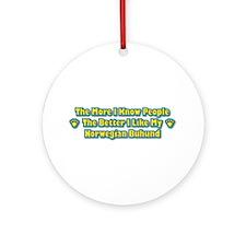 Like Buhund Ornament (Round)