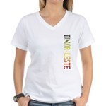 Timor-Leste Women's V-Neck T-Shirt