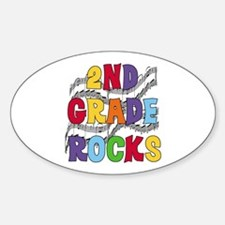 Bright Colors 2nd Grade Oval Stickers