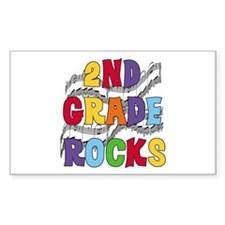Bright Colors 2nd Grade Rectangle Decal