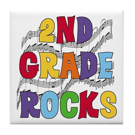 Bright Colors 2nd Grade Tile Coaster