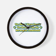 Like Lundehund Wall Clock