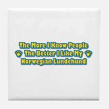 Like Lundehund Tile Coaster