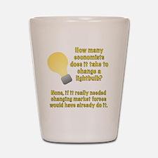 Economist lightbulb joke Shot Glass