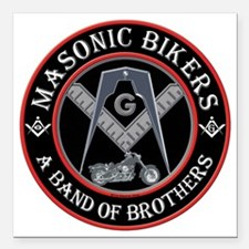 """Brothers who ride Square Car Magnet 3"""" x 3"""""""