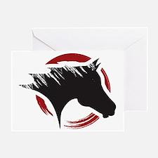 Crow Dog Farm Horse Head Greeting Card