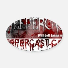 Creepercast Aluminum License Plate Oval Car Magnet