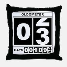 3rd Birthday Oldometer Throw Pillow