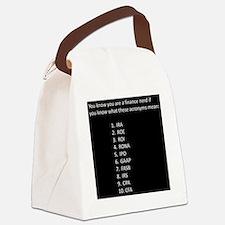 Finance Nerd Acronyms Canvas Lunch Bag