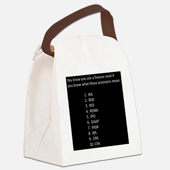 Finance Nerd Acronyms Canvas Lunch Bag