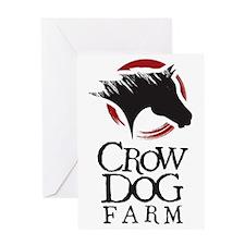 Crow Dog Farm Horse Greeting Card