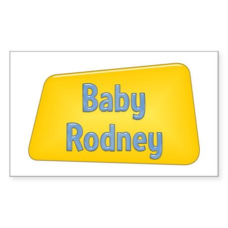 Baby Rodney Rectangle Sticker