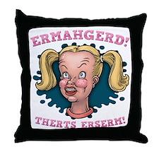 ermahgerd-col-DKT Throw Pillow