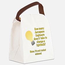 Aerospace Engineer Lightbulb Joke Canvas Lunch Bag