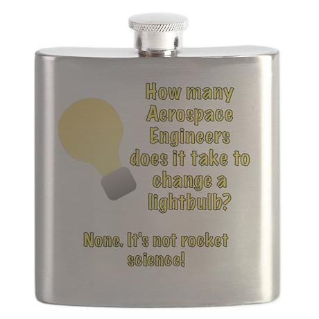 Aerospace Engineer Lightbulb Joke Flask