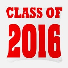 Class of 2016 (red) Woven Throw Pillow