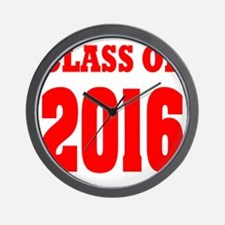Class of 2016 (red) Wall Clock