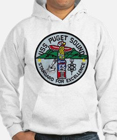 uss puget sound patch transparen Hoodie