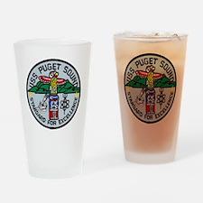 uss puget sound patch transparent Drinking Glass