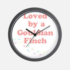 Loved by a Gouldian Finch Wall Clock