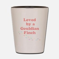 Loved by a Gouldian Finch Shot Glass