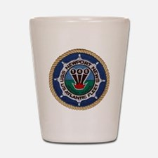 uss newport news patch transparent Shot Glass