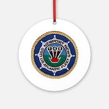 uss newport news patch transparent Round Ornament