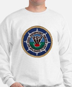 uss newport news patch transparent Sweatshirt