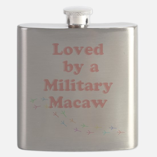 Loved by a Military Macaw Flask