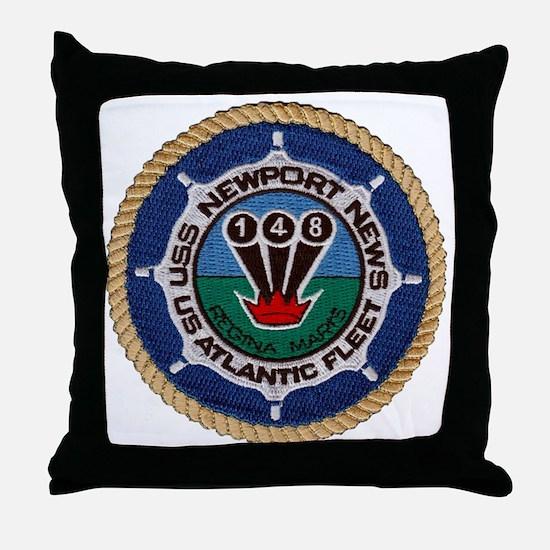 uss newport news patch transparent Throw Pillow
