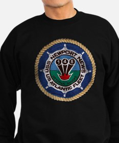 uss newport news patch transpare Sweatshirt