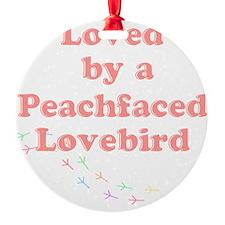 Loved by a Peachfaced Lovebird Ornament