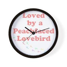 Loved by a Peachfaced Lovebird Wall Clock