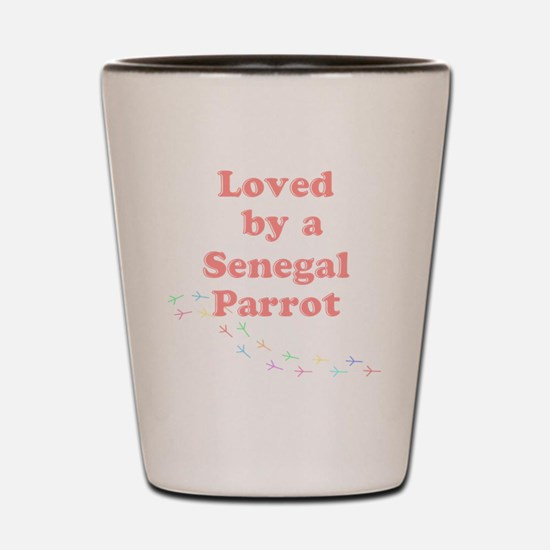 Loved by a Senegal Parrot Shot Glass