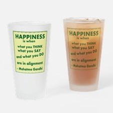 Gandhi Happiness Drinking Glass