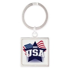 2012 USA Square Keychain