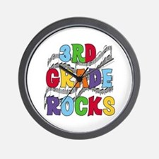 Bright Colors 3rd Grade Wall Clock