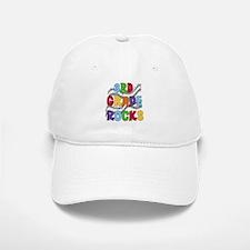 Bright Colors 3rd Grade Baseball Baseball Cap