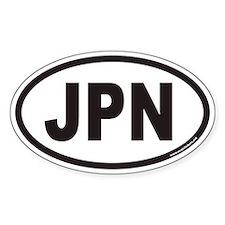 Japan JPN Euro Oval Decal