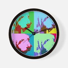 Spinone a la Warhol 3 Wall Clock