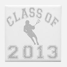 Class Of 2013 Lacrosse Tile Coaster