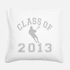Class Of 2013 Lacrosse Square Canvas Pillow