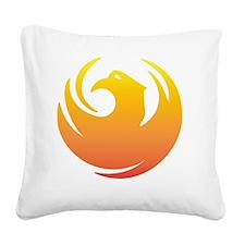Phoenix Seal Square Canvas Pillow